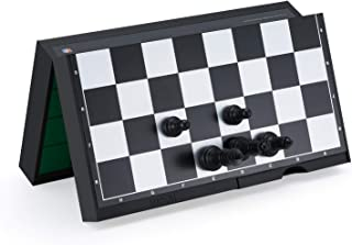 "Magnetic & Folding Trave 3-in-1 Chess Set , Chess & Checkers & Reversi with Double-Faced Board and Four Drawer ,Best Chess Games Gift for Kids Beginners and Adults 9.8"" x 9.25"""