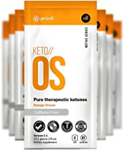 KETO//OS Orange Dream 2.1 No Caffeine, BHB Salts Ketogenic Supplement - Beta Hydroxybutyrates Exogenous Ketones for Fat Loss, Workout Energy Boost and Weight Management through Fast Ketosis, 5 Sachets
