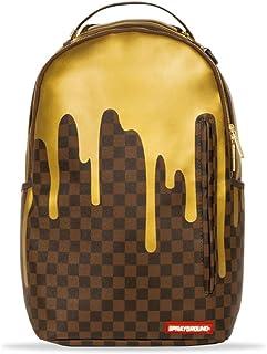 e4138d8c74 Sprayground | Sac à dos doré à carreaux Marron | SPR_910B1637SS19