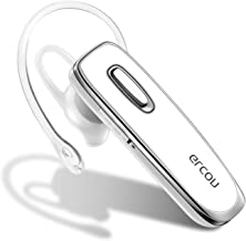 Bluetooth Earpiece for Cell Phones - GLCON Hands Free Wireless Bluetooth Headset with Noise Cancelling Mic for Driver Trucker Business - Bluetooth Headphones Earbuds for iPhone iPad Android