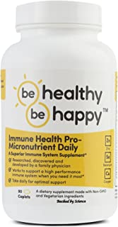 Be Healthy! Be Happy! Immune Health Pro – Infection Fighting Micronutrient Daily Superior Immune System Supplement Remedy for Colds & Flu