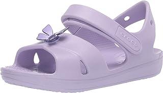 Crocs Unisex-Child Preschool Classic Cross-Strap Sandal | Slip on Water Shoes for Kids