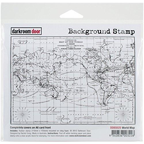 Darkroom Door Background Cling Stamp 4'x6'-world Map