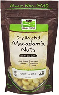 NOW Foods Dry Roasted & Salted Macadamia Nuts, 9-Ounce