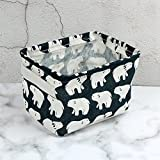 Leisial Aufbewahrungsbox für Baumwolle und Wäsche, Aufbewahrungstasche aus wasserdichtem Material, Griffe beidseitig für Kleidung von Kindern mit niedrigem Alter oder Haustier-Zubehör, style D, 20.5×16.5×13.5cm - 9