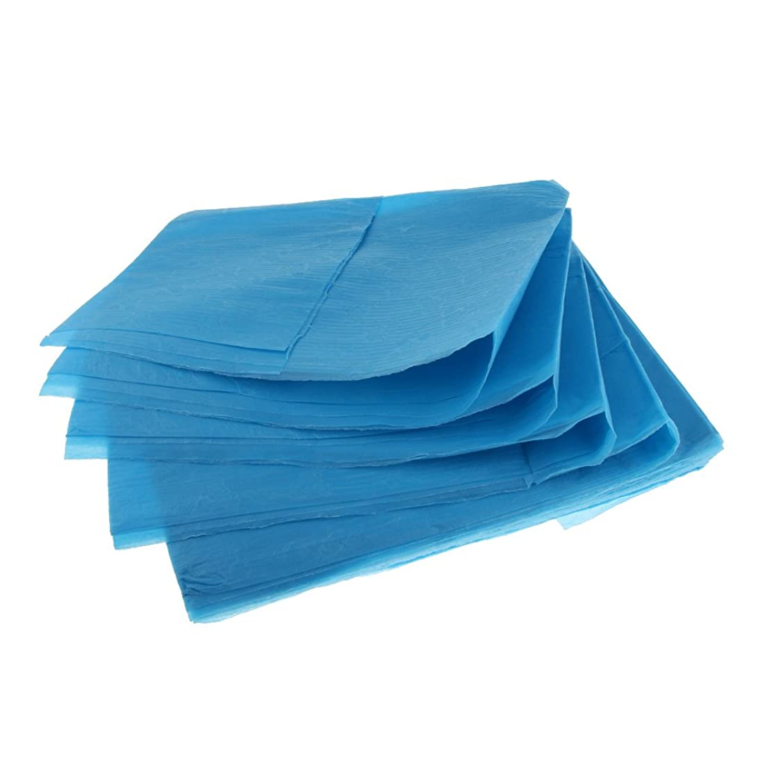 銅なぜなら死の顎10枚 使い捨て ベッドシーツ ベッドパッド カバー 妊産婦 生理期間 スキンケア 美容院 サロン ホテル 2色選べ - 青