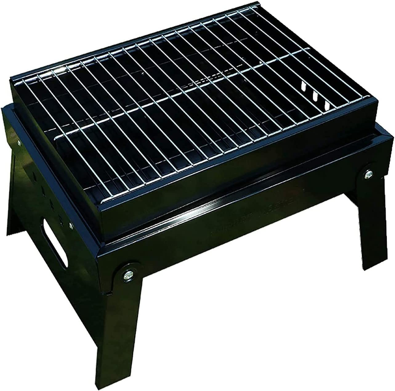 AACXRCR Selling and selling Barbecue Denver Mall tool set Portable BBQ Iron Mini Size Grill Fol