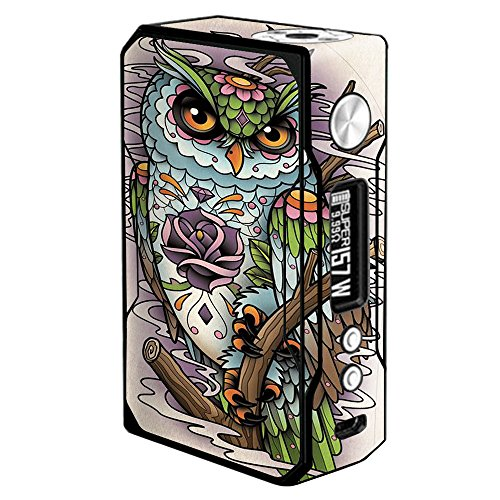 Skin Decal Vinyl Wrap for Voopoo Drag 157W TC Resin/Reg. Vape Mod stickers skins cover/ Owl Painting Aztec Style