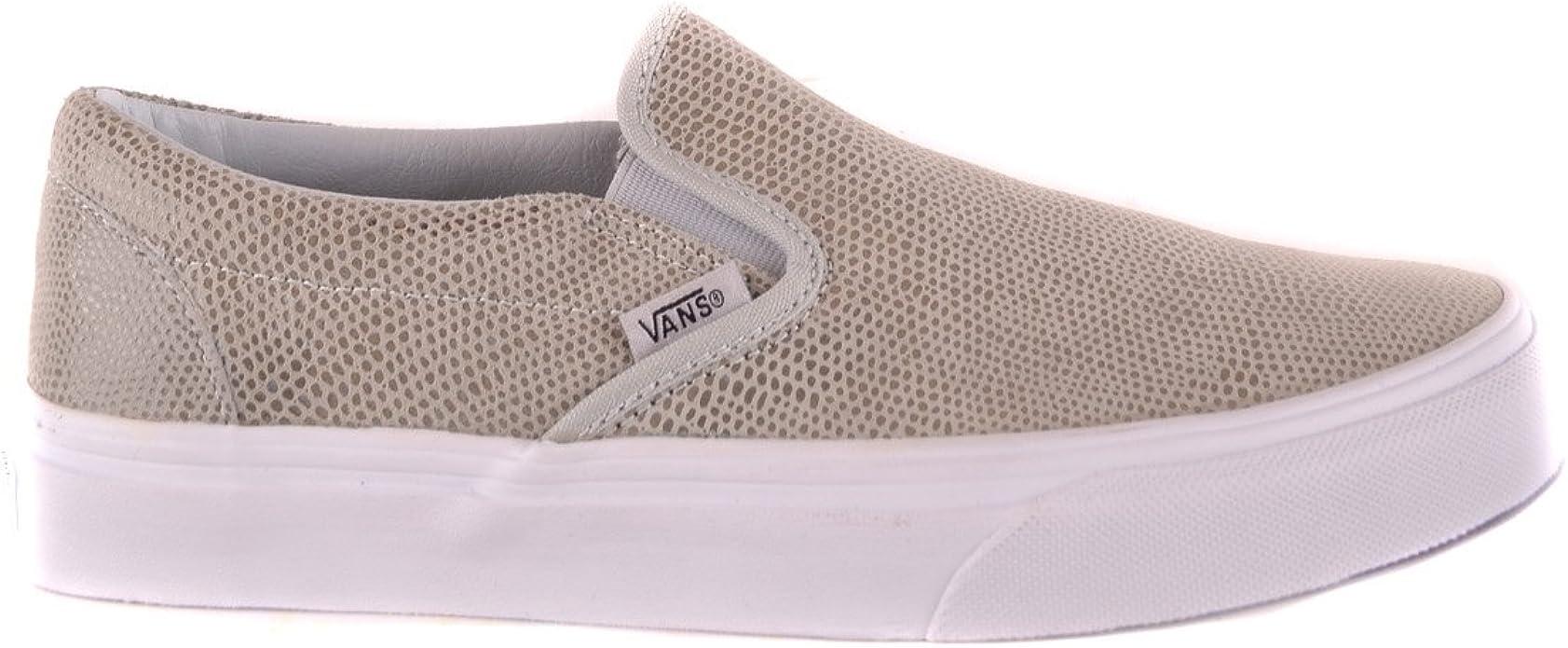 Vans Slip On Sneakers Donna Mcbi3061013o Camoscio Grigio : Amazon ...