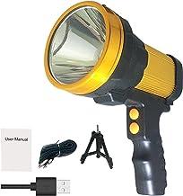 Heldere Meest Krachtige Draadloze Handheld Spotlight Hoge 6000 Lumen USB Oplaadbare, Grote Batterij 10000 MAH Draagbare LE...