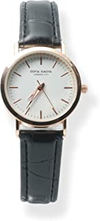 Xiaoya Reloj de Pulsera de Cuarzo para Mujer con Elegante Cinturón de Cuero y Estuche Ultradelgado