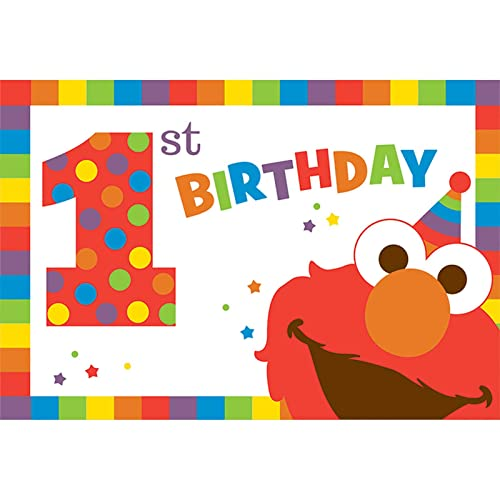 Amscan Sesame Street Elmo Turns One Postcard Invitations Birthday