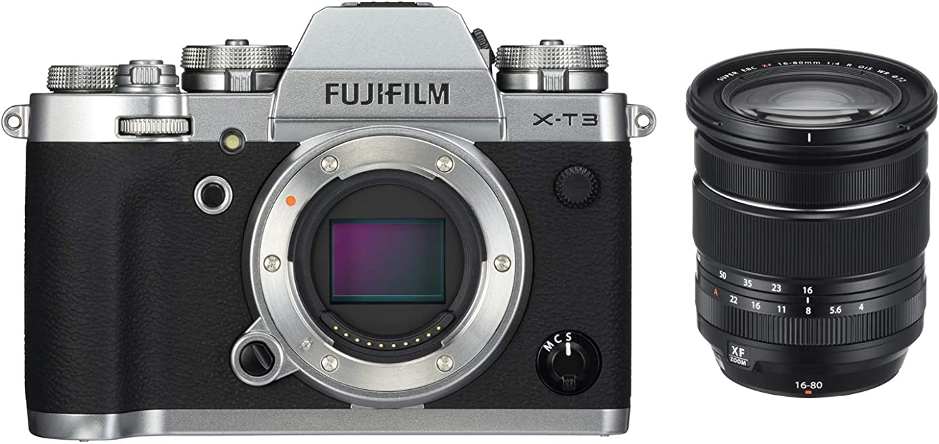 Fujifilm X-T3 - Cámara Digital sin Espejo Color Plata con Fujinon XF16-80mmF4 R WR Lente estabilizadora de Imagen óptica