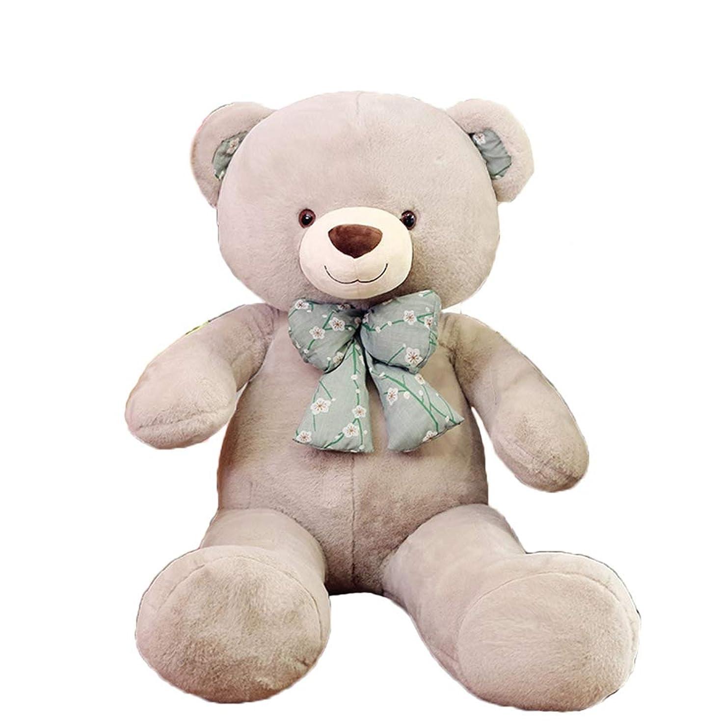 遺伝的無効にするインテリア熊縫い包み 特大 クッション くま テディベア ぬいぐるみ 可愛い 癒し 柔らかい 可愛いキャラクター 抱き枕 ベッドルーム 置物 もちもち 赤ちゃん インテリア お昼寝 ふわふわ 添い寝枕 グレー