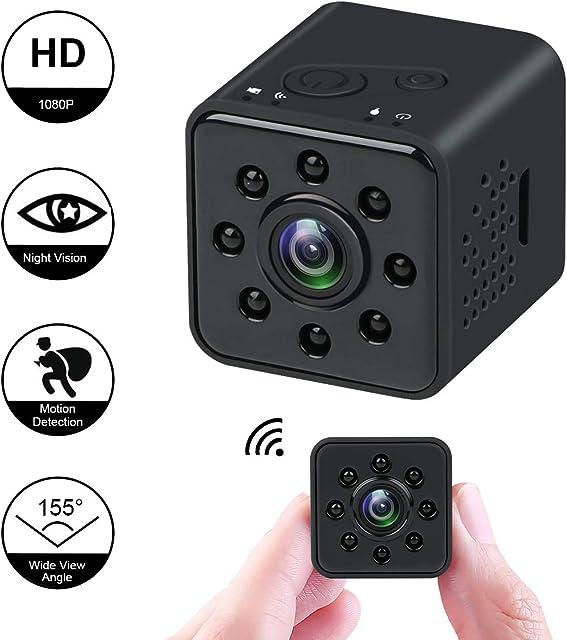 Makerfire Mini cámara 1080P HD Videocámara espía Visión Nocturna Cámara CMOS 155 Grados Soporte de cámara Oculta a Prueba de Agua WiFi móvil Detección de Movimiento para FPV Drone