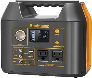 Enginstar Estación de energía portátil 298 Wh, batería de litio de camping de respaldo, generador solar al aire última int...