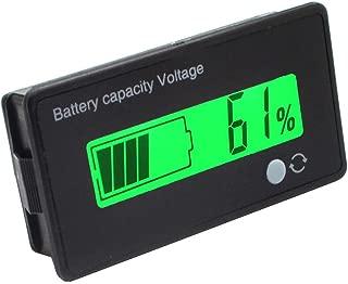 Reemplazo de la exhibici/ón Impermeable DC 5-48V Voltaje Volt/ímetro Digital Panel Meter Tester LED para Coche Barco de la motocicletaSunlera