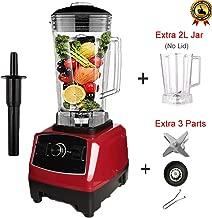 Eu/Us/Au/Uk Plug 3Hp 2200W G5200 Heavy Duty Commercial Grade Blender Mixer Juicer Food Processor Ice Smoothie Bar Fruit,Red Jar Fullparts,Us Plug