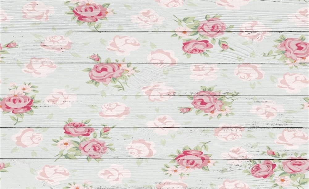 7x5ft Interior Tea Party Backdrop Shabby Flowers Pattern Tablecloth Retro Wooden Stair Nostalgia Wood Floor Photography Background Kids Adults Photo Studio Props