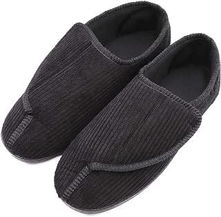 mens diabetic slippers wide width