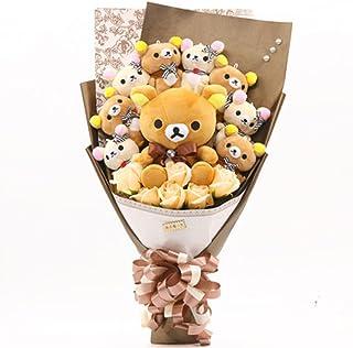 お祝い 可愛い ベア束 アニマル ぬいぐるみ ギフト プレゼント ベア ブーケ 結婚式 記念日 誕生日成人礼 出産祝い プロポーズ お祝い 卒業式 サプライズ (カラーA)
