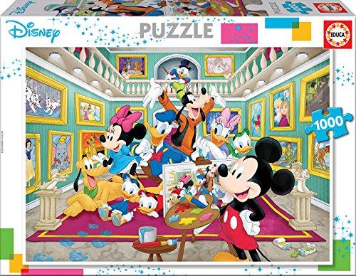 Educa Borras - Serie Disney, Puzzle 1.000 piezas Galería de arte de Mickey (17695)