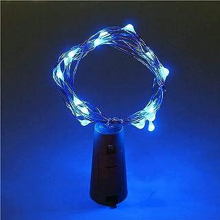 ZJDM Botella de Vino Cadena de Luces de Corcho 20 Luces LED de Hadas Energía de batería Fiesta Boda Navidad Decoración de ...