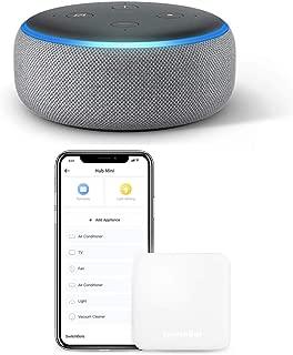 Echo Dot 第3世代 - スマートスピーカー with Alexa、ヘザーグレー + スイッチボット スマートホーム 学習リモコン Hub Mini