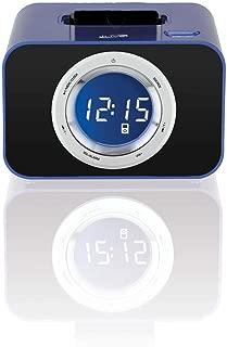 iLive ICP211BU Digital Clock with FM Radio, Alarm and iPod/iPhone Dock (Blue)