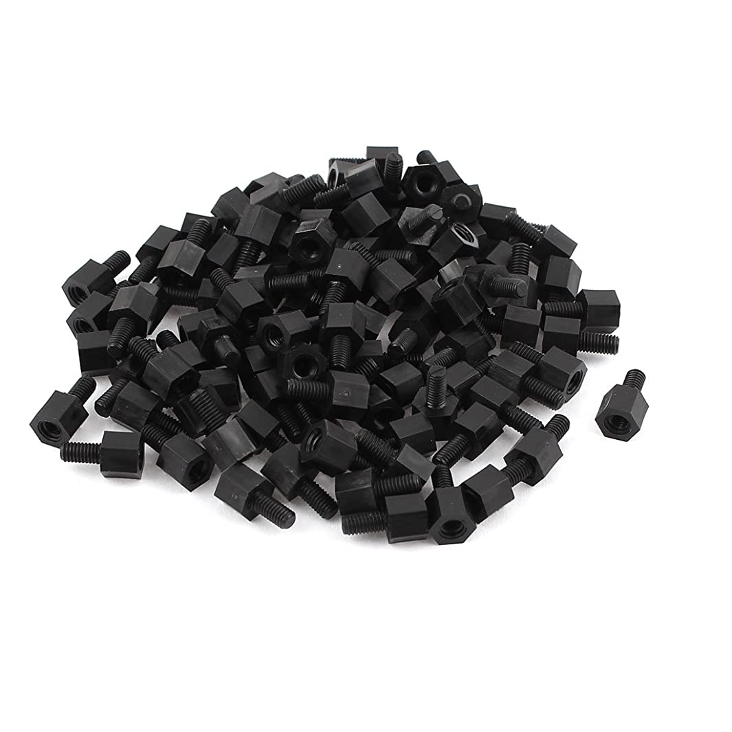 uxcell Motherboard Nylon Hex Standoff Threaded Spacer M3 Thread 6+6mm 100Pcs