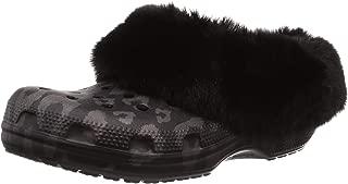 Crocs Classic Mammoth Luxe Metallic Clog Black Men's 8, Women's 10