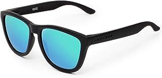 comprar comparacion HAWKERS ONE Carbon Black Gafas de Sol Ligeras, para Hombre y Mujer, con Montura Negra Mate y Lente Esmeralda Efecto Espejo...