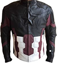 coolhides Men's Infinity War Real Leather Captain Jacket