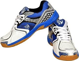 V22 Ultra Badminton Court Shoe, Size 5 (Dark Blue/White)