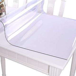 RAIN QUEEN Imperméable imprimé Nappe Film PVC 1mm Epais Cristal Anti-Tache protège Table Meuble pour Cuisine Restaurant (8...