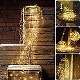 Sporgo Led Lichterbündel,2M 200 LED Wasserdichte Dekorative Wasserfall-String-Leuchten,8 Lichtmodi Led Lichterbündel mit Fernbedienung Für für Innen und Außen,Party,Hochzeit,Weihnachtsbaum