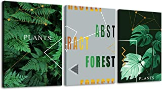 MOCO Canvas Wall Art Panels Nature Posters Stretched Framed Prints Artwork for Living Room Green Pictures Home Decor Ready to Hang 12x16 inch 3 Panels