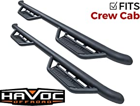 Havoc HS2 Black Hoop Nerf Bars Truck Steps (fits Only) 2015-2018 Dodge Ram Crew Cab