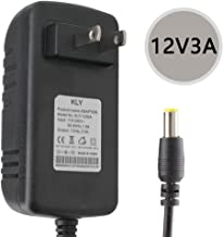 Yetaida DC 12V 3A Power Supply Converter Adapter, 36Watts Wall Power Converter, 5.5mm x 2.5mm DC Jack,for LED Strip,CCTV Camera,Wireless Router,Monitor