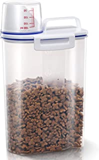 TBMax Pet Food Container for Dogs Cat Food Container with Pour Spout + Seal Buckles + BPA-Free Plastic + Airtight for Birds