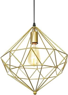Araña de jaula de pájaros dorada atmosférica lámpara de mesa de ...
