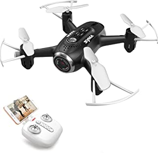 Kiditos Syma X22W Mini FPV Nano Pocket Drone with Camera Live Video, App Control, Altitude Hold, 3D Flips, Headless Mode for Kids and Beginners (Black)