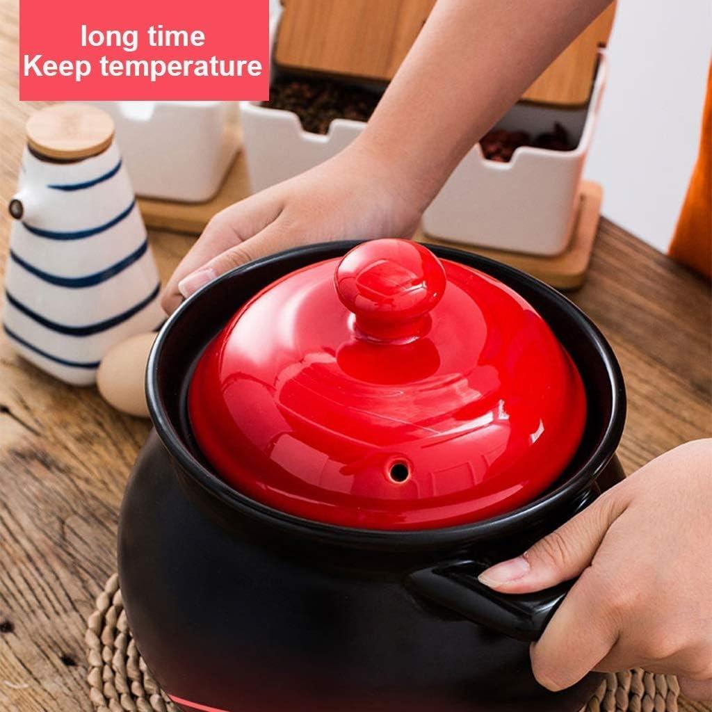 Pot En Pierre En Céramique Pot En Terre Cuite Grande Capacité Batterie De Cuisine Pot De Bouillie Feu Ouvert Chaleur Domestique Chaleur Multifonction Avec Couvercle 6000ml