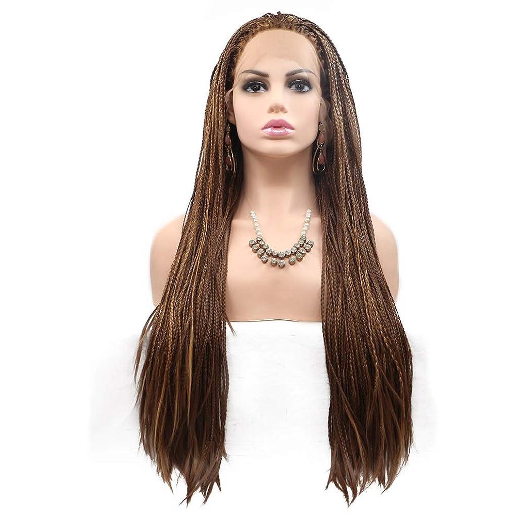 ペフケーブルカー精度ZXF ヨーロッパとアメリカのかつらで染められた長い巻き毛の女性は、化学繊維かつらの毛髪セットの真ん中に設定 - 小さなピンセット - 茶色 - 長い髪 美しい