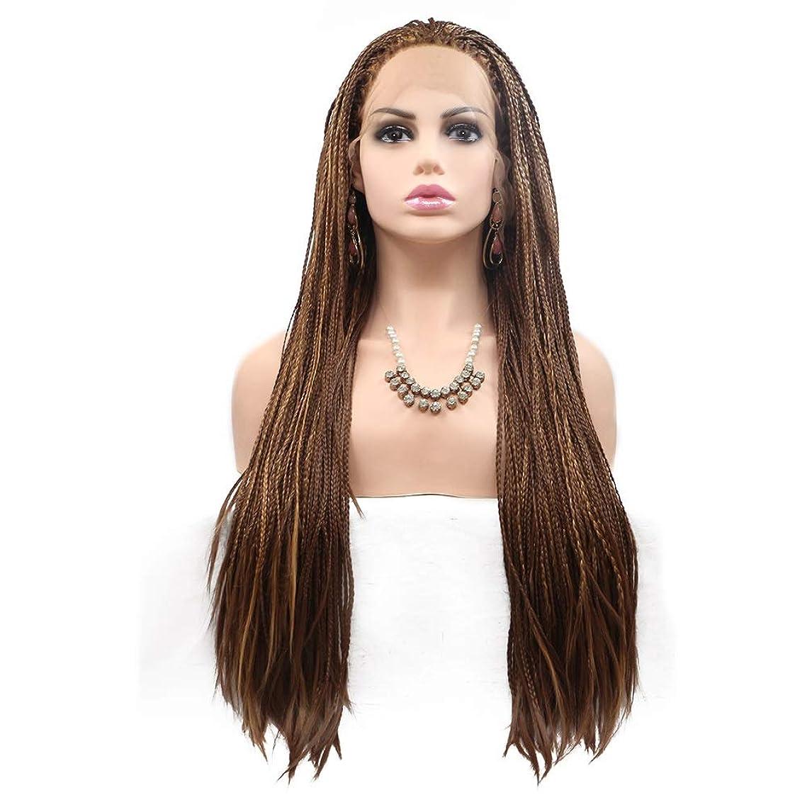 手数料信頼性いたずらZXF ヨーロッパとアメリカのかつらで染められた長い巻き毛の女性は、化学繊維かつらの毛髪セットの真ん中に設定 - 小さなピンセット - 茶色 - 長い髪 美しい