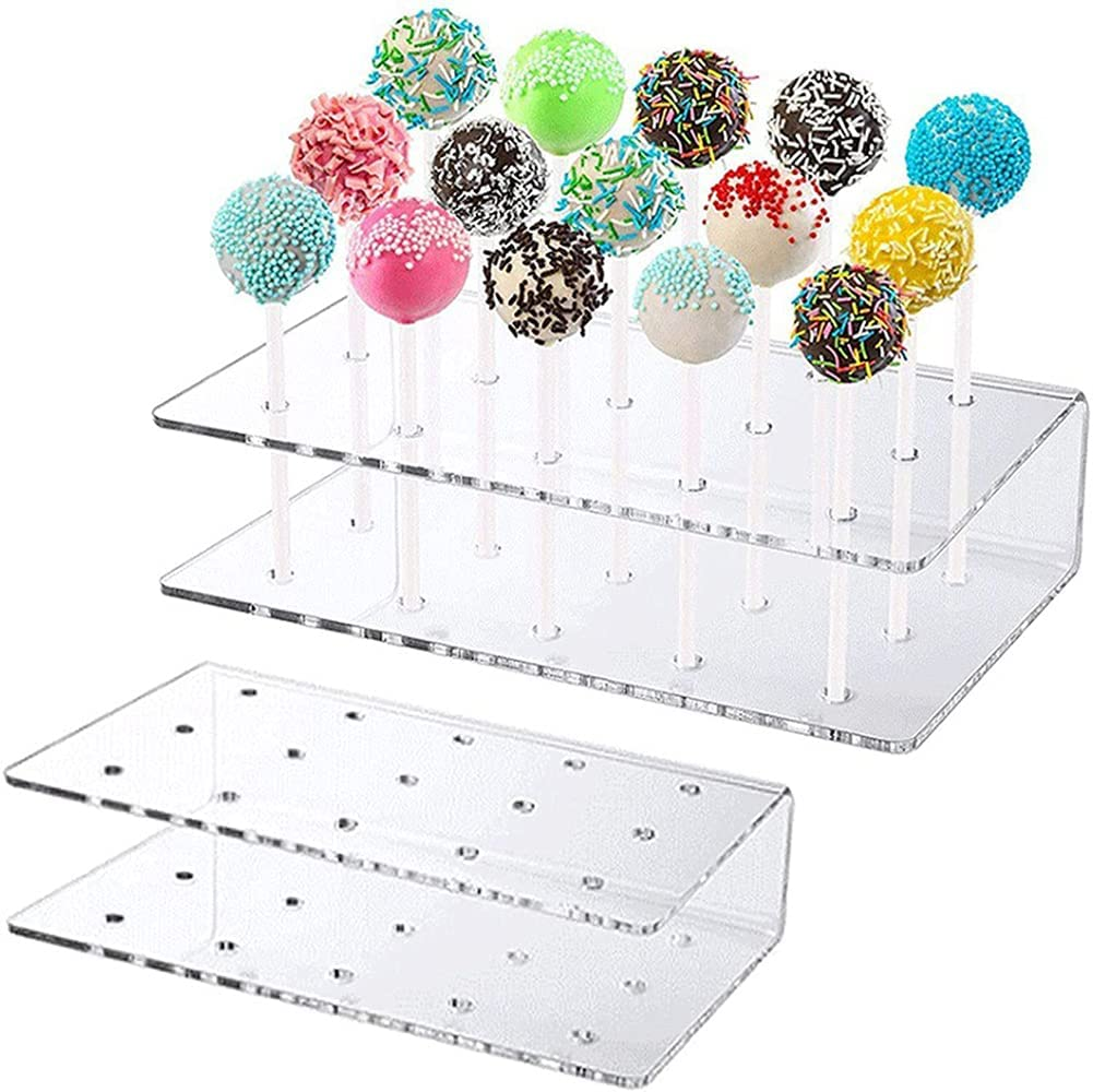15 Holes Courier shipping free shipping Transparent Acrylic Lollipop Display Wedding Max 45% OFF Stand Birt