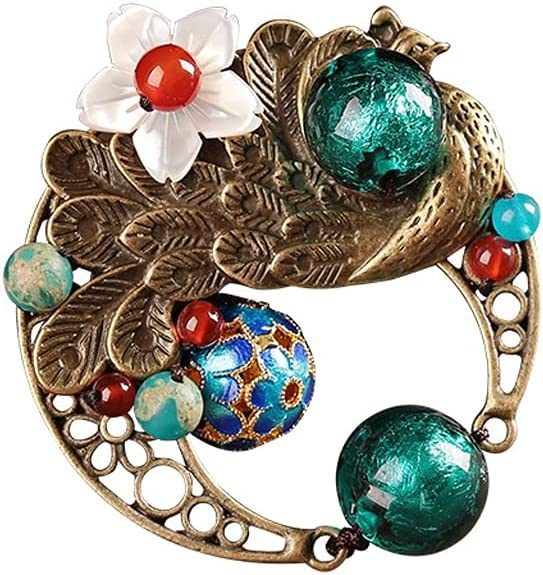 Today's only Creative Peacock Brooches Pins for Vintage Eth Mother lowest price Chinese