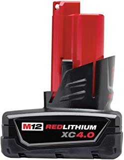 Genuine Milwaukee 48-11-2440 New M12 12v Red Lithium XC 4.0 Ah Battery