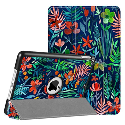 Fintie SlimShell Hülle für iPad Mini 5 2019 - Ultra Schlank Superleicht Ständer Schutzhülle mit Auto Schlaf/Wach Funktion für 2019 iPad Mini (5. Generation), Dschungelnacht