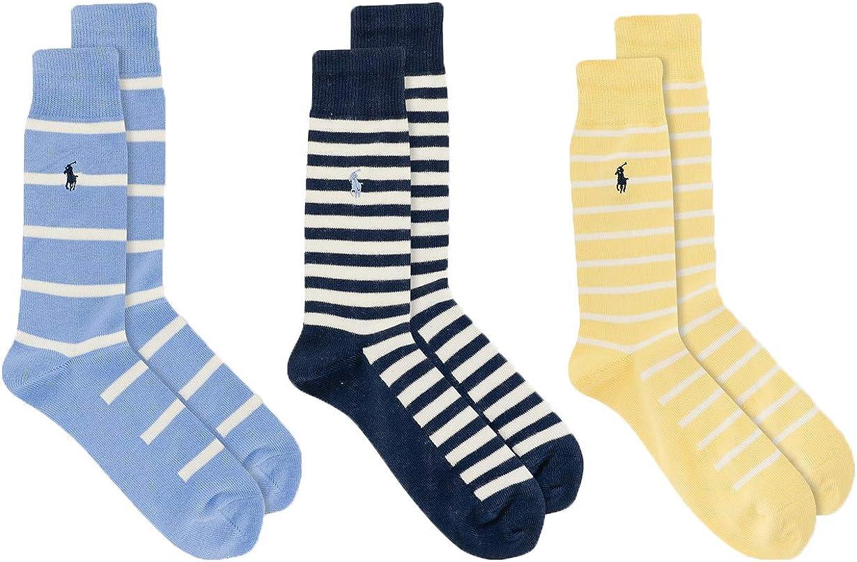 Polo Ralph Lauren Men's Multicolor Striped Socks 3-Pack Size 10-13